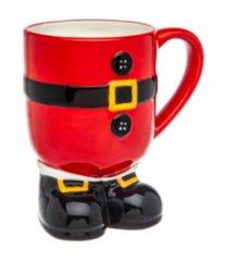 godinger santa belt foot mug