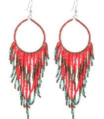 perline in resina bohemien orecchini nappe orecchini lunghi etnici per le donne