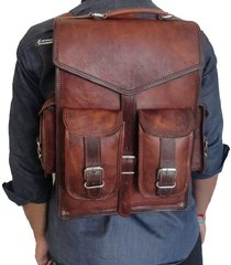 travel backpack leather laptop men rucksack school travel shoulder satchel women