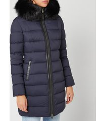 mackage women's calla matte padded parka - navy - xl