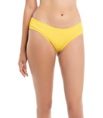 bikini calzón culote con textura amarillo samia