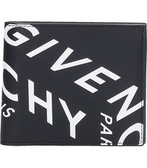 givenchy billfold 8cc wallet in black leather
