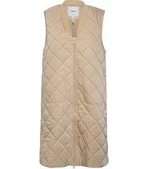 objmaggie waist coat 113 .c vests padded vests creme object