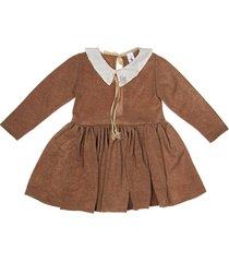 vestido marrón paulem peter pan