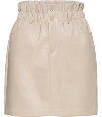 onlmillie-miri pb faux leather skirt pnt kort kjol grön only