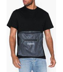 sixth june t-shirt with reflective pocket t-shirts & linnen black