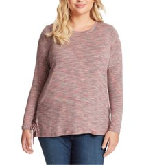 jessica simpson trendy plus size ally hacci side-tie top