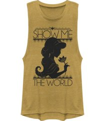 disney juniors' princesses jasmine silo festival muscle tank top