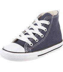 zapatilla azul converse ctas core hi navy