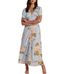 women's billabong lucky in love maxi dress, size x-small - grey
