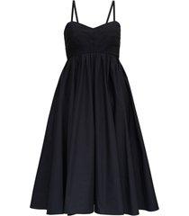 philosophy di lorenzo serafini wide dress in cotton poplin with back bow