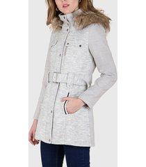 abrigo io gris - calce regular