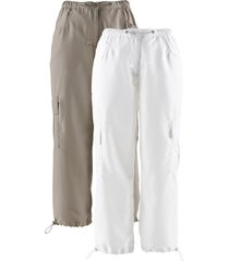 pantaloni cropped (pacco da 2) (marrone) - bpc bonprix collection
