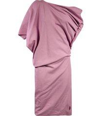 the attico mini one-shoulder dress