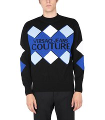 versace jeans couture sweater with logo