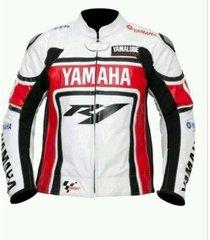 mens r1 yamaha motogp white red black motorcycle leather jacket xs tpo 6xl sizes