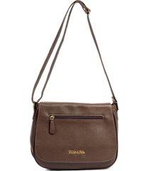 bolsa feminina brilho da pele couro original estruturada marrom claro