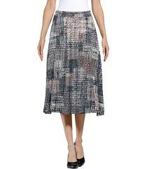 kjol alba moda offwhite::antracitgrå::gammalrosa