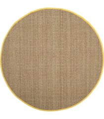 safavieh natural fiber natural and gold 6' x 6' sisal weave round area rug