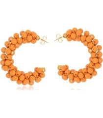 argola le diamond bolas resina laranja