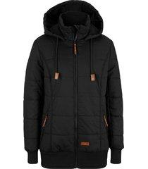 giacca outdoor con dettagli in similpelle (nero) - bpc bonprix collection
