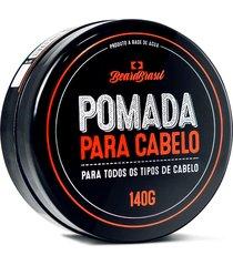 pomada beard brasil para cabelos 140 gramas - kanui