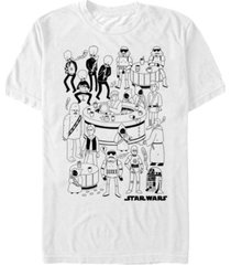 star wars men's classic cantina cartoon short sleeve t-shirt