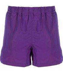 hevo elasticated waist swim shorts - purple