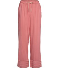 pant vis jacquard stripe pyjamasbyxor mjukisbyxor rosa hunkemöller