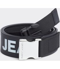 tommy hilfiger women's high waist logo tape belt black - 32