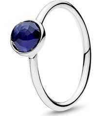 anel gota de safira sintetico - setembro
