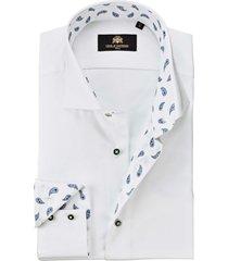 circle of gentlemen overhemd desten paisley contrast slim fit