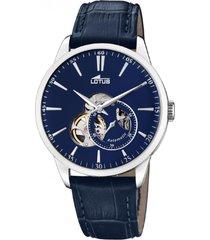 reloj automatico azul lotus
