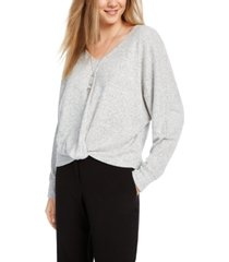 bcx juniors' twisted necklace sweater