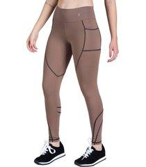calça legging feminina surty essential team marrom