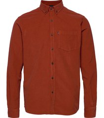 august cord shirt overhemd casual oranje lexington clothing