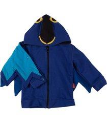 casaco moletom bicho arara taioca azul