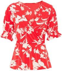 maglia con maniche a sbuffo (rosso) - bodyflirt