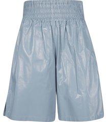 bottega veneta shiny leather shorts