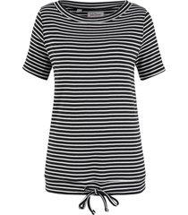 maglia a righe a mezze maniche (nero) - john baner jeanswear
