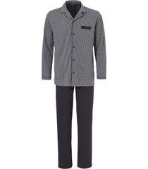 doorknoop pyjama jersey grijs met printje
