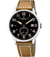reloj festina modelo f20347/6 beige hombre