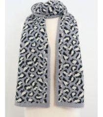 women's leopard eyelash scarf