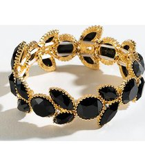 casey stone stretch bracelet - black