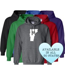 vermont hoodie sweatshirt love home heart unisex men women state