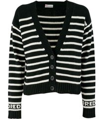 red valentino cashmere-wool blend cardigan