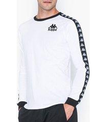kappa t-shirt l/s, auth. dixon tröjor vit/svart