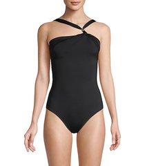 asymmetrical 1-piece swimsuit
