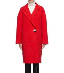 button wool-cashmere melton coat