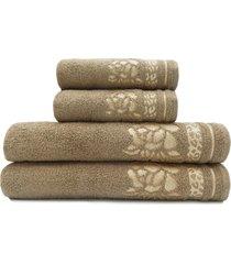 jogo de toalhas de banho 4 peças - appel - luanda - castanho